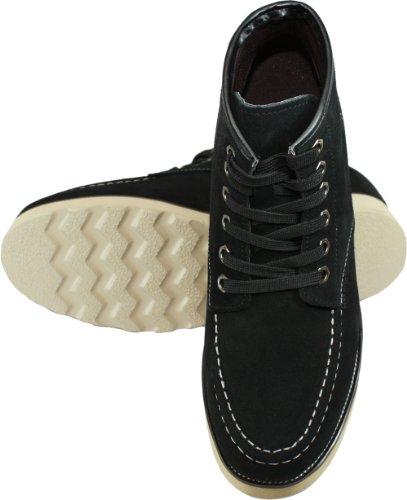 Calden - K228063 - 3 Pouces De Hauteur - Hauteur Croissante Ascenseur Chaussures-nubuck Noir Lacets