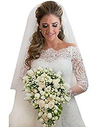 Long sleeve wedding dresses on amazon