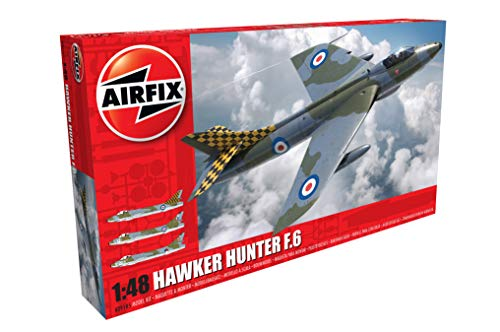 Airfix Hawker Hunter F.6 1:48 Military Aircraft Plastic Model Kit A09185