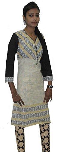 Indian-100-Cotton-Top-Kurta-Women-Ethnic-Tunic-Kurti-plus-size-V-neck-Multi-Color