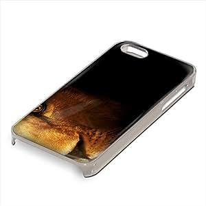 Animales Salvajes 161, león, Custom Claro PC Ultradelgado Caso Duro Carcasa Funda Protección Tapa Hard Case Cover Shell con Diseño Colorido para Apple iPhone 5 5S.
