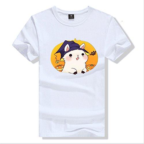 hengzhengshangmao Womens Halloween costume Halloween horror bloody nurse Pure cotton T-shirt White Size M