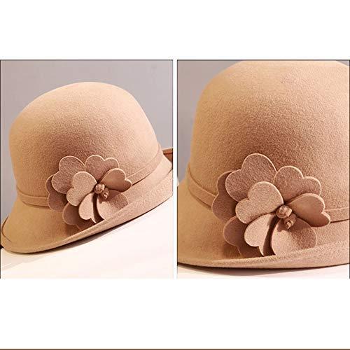 Color Lightcamel De Manga lightblue Hhmz Sombrero Corta Decorativo Flores Otoño Invierno Para Mujer E Liso 6E5wZwRqx