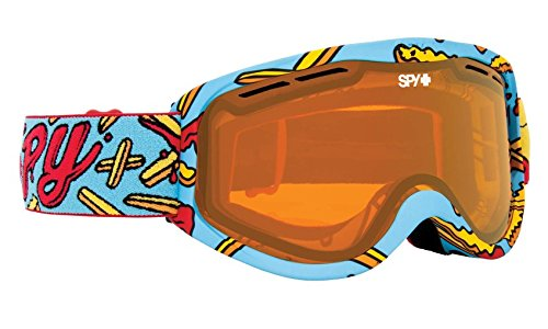 SPY Optic Cadet Snow Goggles | Small - Youth Sized Ski, Snowboard or Snowmobile Goggle | Clean Design and All Day Comfort | Scoop Vent Tech | Pizza V. French - Oakley Lens Clear A Frame