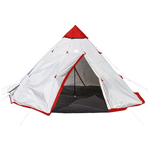 Tahoe-Gear-Blackhorn-4-Outdoor-Camping-10-Foot-4-Person-Sleeper-Cone-Style-Tent