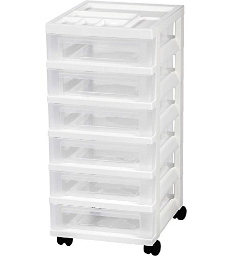 IRIS 6 Drawer Storage Organizer White