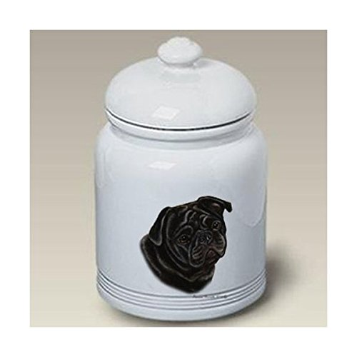 Best of Breed Pug (Black): Ceramic Treat Jar 10
