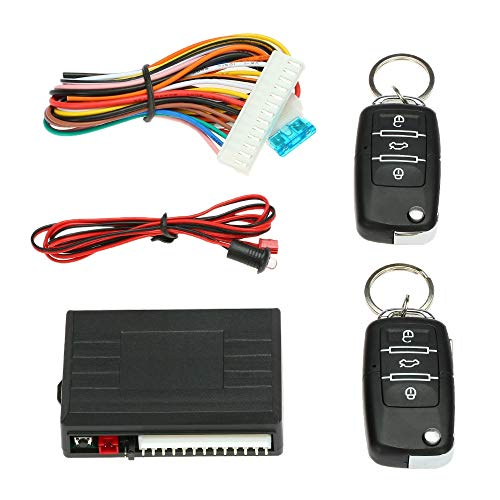 KENTT Car Auto Remote Central Kit Door Lock Locking Vehicle Keyless Entry System With Central Locking with Remote Control Car alarm ()