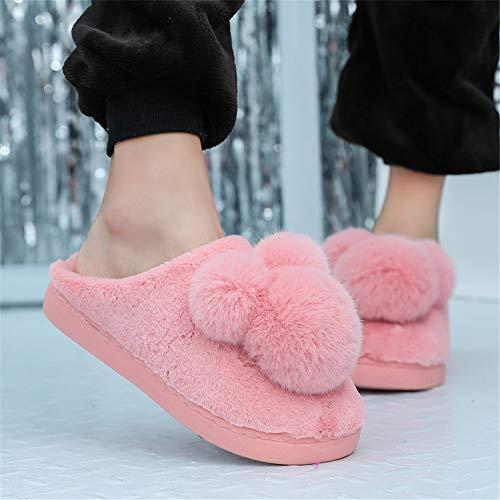Homme Femme Coton Pantoufles Hiver D'intérieur Rose Chaud Chaussures Maison Chaussons Torisky wBtIxqd8B