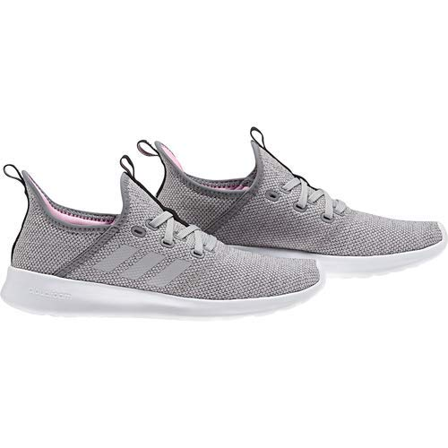 adidas Women's Cloudfoam Pure, Grey/True Pink, 9.5 M US