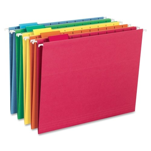 Wholesale CASE of 10 - Smead 1/5 Cut Colored Hanging Folders-Colored Hanging Folders, 1/5 Tab Cut, Ltr Size, 25/BX, Ast