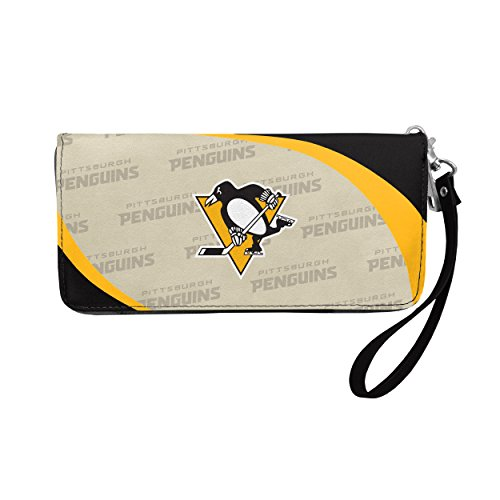 (NHL Pittsburgh Penguins Curve Zip Organizer Wallet)