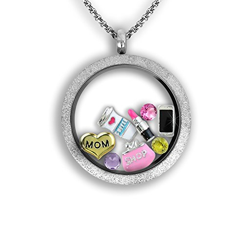 Best Mom Locket (A Touch of Dazzle Mother's Necklace - Gift For Mom | Floating Locket Necklace | Personalized Necklace for the Best Mom Ever)