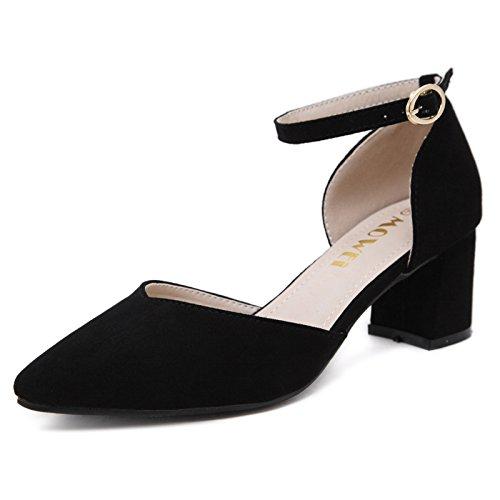 Estudiantes Zapatos Con SHOESHAOGE Mujer Sandalias De Eu34 Zapatos Heavy Heel High Baotou EU35 Light La Con De Los En Los El Campo 0gag5Hrq