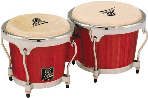Latin Percussion LPA601-RWC Aspire Red Wood Bongos by Latin Percussion