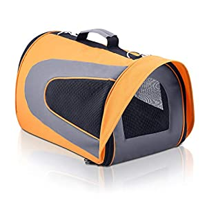 i.Pet Extra Large Portable Foldable Pet Carrier – Orange Click on image for further info.