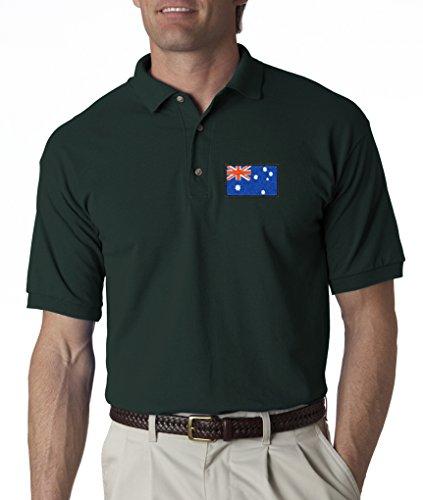 Australian Country Flag Australia Embroidered Polo Shirt S-3XL 8 Colors - Forrest - - Polo Australia