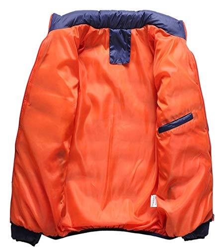 Capispalla Cappotto Cappotto Abbigliamento Casuale Huixin Calda Basamento Maschile Del Lunga Zip Del Del Piumino Manica Collare Full Nero UaEHx