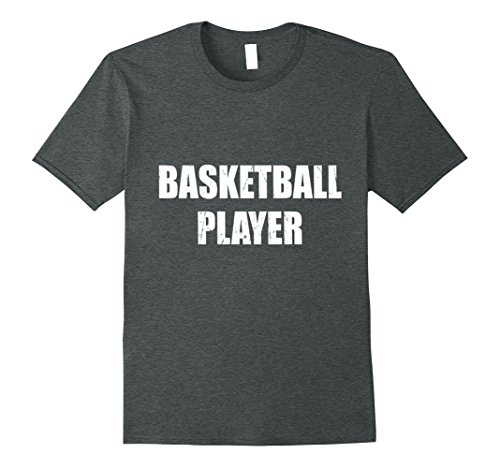 Mens Basketball Player Shirt Halloween Costume Funny Distressed 3XL Dark Heather