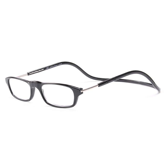 a1d5f6b18d Embryform Gafas de Lectura de Magnéticas Ajustable con Diseño de Conexión  Frontal y Colgar el Cuello