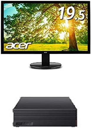 BUFFALO 外付けハードディスク 3TB テレビ録画/PC/PS4/4K対応 HD-AD3U3 + Acer モニター ディスプレイ K202HQLAbmix 19.5インチ/HDMI端子対応/スピーカー内蔵
