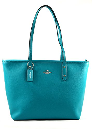 Turquoise Crossgrain Leather