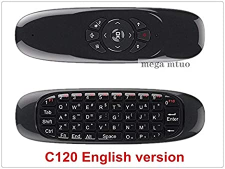 Color: English Calvas C120 Fly Air Mouse 2.4G Mini Wireless Keyboard Rechargeable Remote Control For PC Android TV Box Russian English