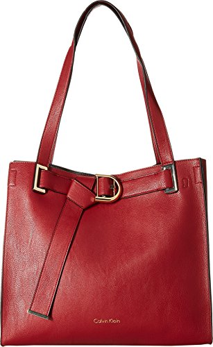 Calvin Klein Women's Nola Jetlink Tote Red/Black One Size