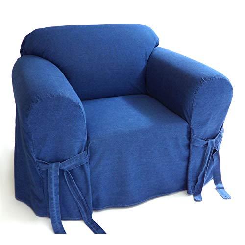 Classic Slipcovers Blue Authentic Denim 12-Ounce 1-Piece Chair ()