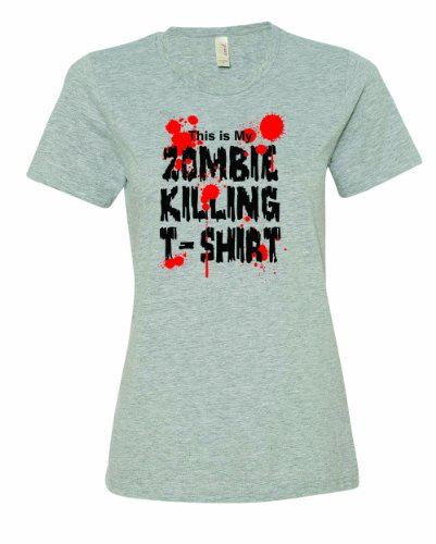 Ladies This Is My Zombie Killing Tee Shirt. Undead Walking Monsters T-Shirt-Sport Gray-2X