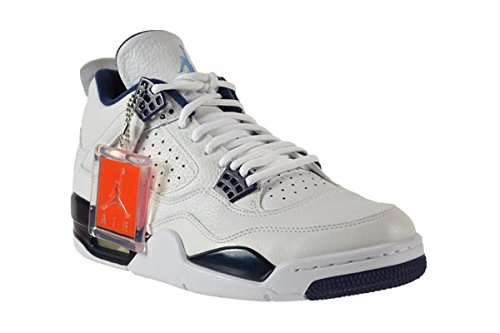 "Jordan 4 Retro ""Columbia"" Herrenschuhe Weiß / Legend Blau-Midnight Navy 314254-107"