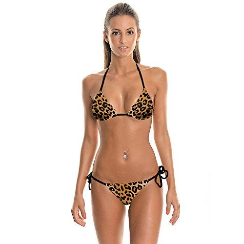 Fashion Da Print WHLTX Bikini Fashion Fashion Bagno Picture Dell'Immagine Leopard Color Swimwear Traspiranti Colore M Costumi q81d1R