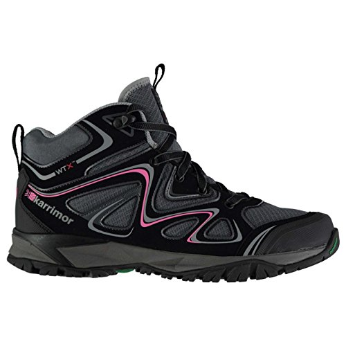 Padded Waterproof Karrimor Surge Womens Lace Boots Mid Breathable Walking Up Black 146R1P