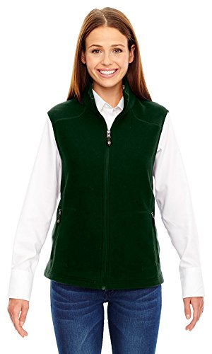 Ladies North End - North End Ladies Voyage Fleece Vest, XS, FOREST GREN 630