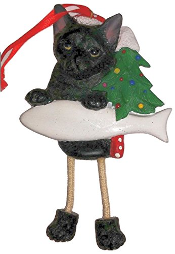 Personalized Dangling Cat Ornament - Black - Personalized Ornaments Cat