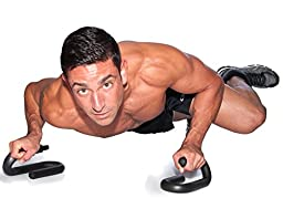 FFO Metal Push up Bar with Foam Grips on Handles. No Slip Pad on Pushup Stands. - Perfects Push ups. Builds Arms, Back, Chest, and Shoulder Strength. Great for P90X Workouts, CrossFit, Calisthenics