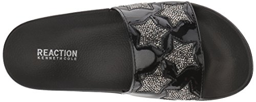 Kenneth Cole Reaction Women's Pool Spash Stars Slide Sandal Black FVq73a