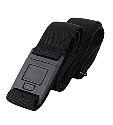 Beltaway Flat Buckle Belt Square Buckle Design Adjustable Stretch Invisible Belt One Size 0 14 Black