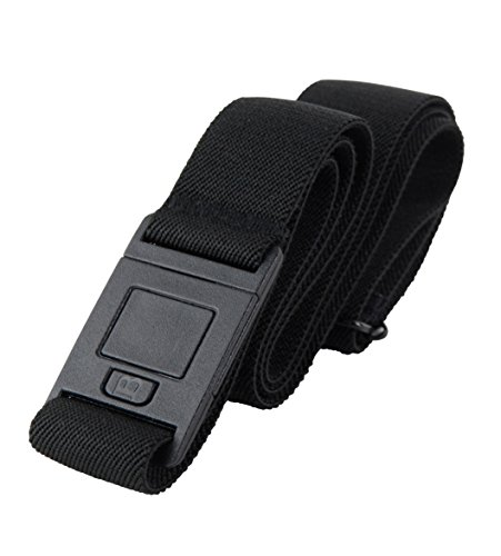 Beltaway² SQUARE BUCKLE- Adjustable Stretch Flat Buckle Belt, Black