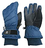 N'Ice Caps Kids Bulky Thinsulate Waterproof Winter Snow Ski Glove With Ridges (Navy, 3-4yrs)