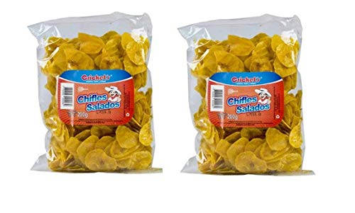 CRICKET'S Chifles Platanitos Salados 200 gr. - 2 Pack | Salted Plantain Chips 7.5 oz. - 2 Pack ()