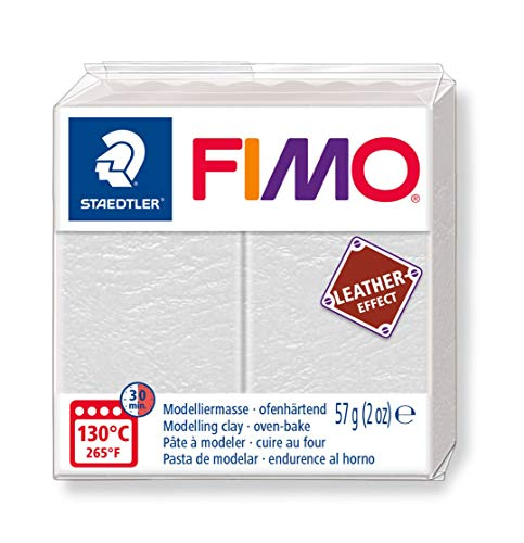 - STAEDTLER 8010-029 ST FIMO Leather-Effect Oven-Hardening Modelling Clay for Creative Objects Leather Look Leather Look and Feel Ivory Colour 8010-29