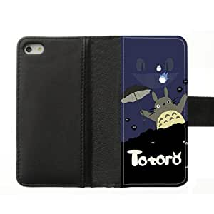 Changetime Funny New Design Totoro Cases Cover for iPhone 5 5S Cartoon iPhone 5 5S Slim-fit Cover Totoro phone case vazza Leather case