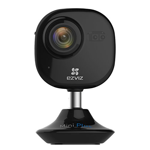 EZVIZ Mini Plus HD 1080p Wi-Fi Video Security Camera, Works with Alexa using IFTTT - Black