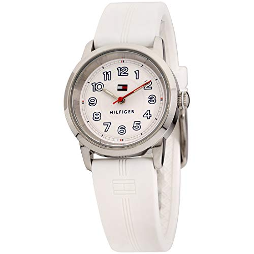 Tommy Hilfiger Communion White Dial Silicone Strap Ladies Watch 1781528