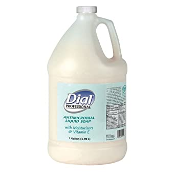 Dial Professional 84022 Liquid Dial Antimicrobial Soap With Moisturizers 1 Gallon (Case of 4)