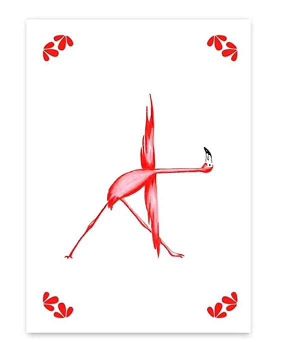 Regalo Red & amp; Blue Crane Wall Art Pictures Animales Yoga ...
