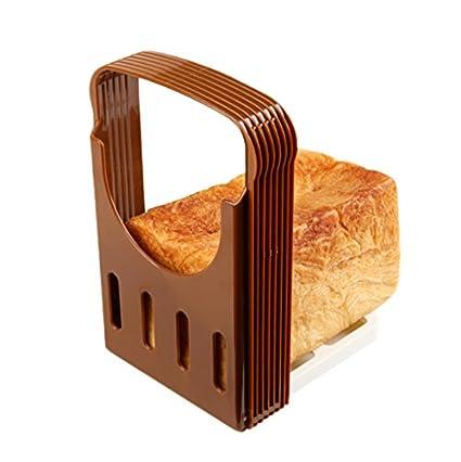 OFKPO Rebanadora de Pan, Manual Máquina para Cortar Sandwich, Tostado, Pastel de Pan, Cocina Guía Tostada Rebanada Herramientas para Hornear: Amazon.es: ...