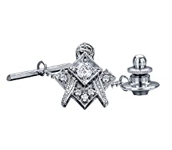 Genuine Diamond Master Mason Tie Tac