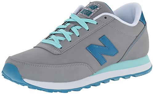 New Balance Womens Classics Traditionnels Synthetic Trainers Grey/light Blue
